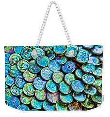 Weekender Tote Bag featuring the photograph Roofing Nails by Vizual Studio