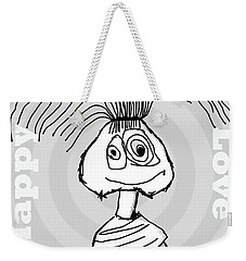 Naive - Gray Weekender Tote Bag by Tine Nordbred