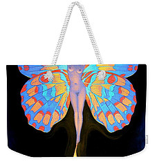 Naked Butterfly Lady Transformation Weekender Tote Bag