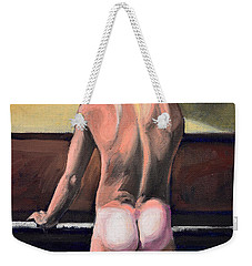 Naked Nude Male Piano Player Weekender Tote Bag
