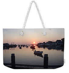 Weekender Tote Bag featuring the photograph Nantucket Sunrise 1 by Robert Nickologianis