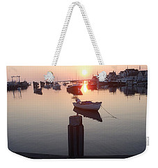 Weekender Tote Bag featuring the photograph Nantucket Sunrise 2 by Robert Nickologianis