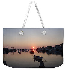 Weekender Tote Bag featuring the photograph Nantucket Sunrise by Robert Nickologianis