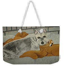 Naptime With My Buddy Weekender Tote Bag