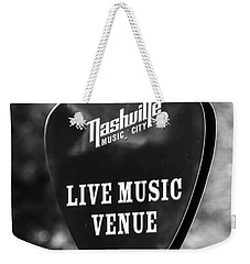 Nashville Music City Sign Weekender Tote Bag