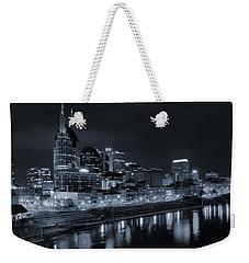 Nashville Skyline At Night Weekender Tote Bag by Dan Sproul