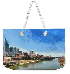 Nashville Skyline Panorama Weekender Tote Bag by Dan Sproul
