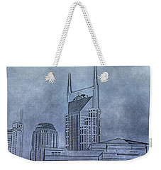 Nashville Skyline Sketch Weekender Tote Bag by Dan Sproul