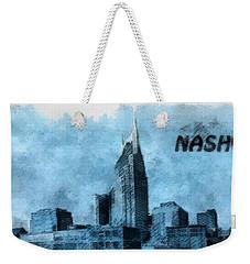 Nashville Tennessee In Blue Weekender Tote Bag