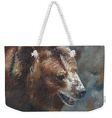 Nate - The Bear Weekender Tote Bag by Lori Brackett