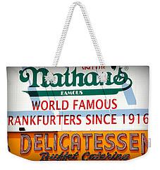 Nathan's Sign Weekender Tote Bag