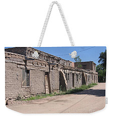 Weekender Tote Bag featuring the photograph Native American Adobe Pueblo by Dora Sofia Caputo Photographic Art and Design