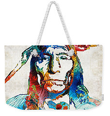 Native American Art By Sharon Cummings Weekender Tote Bag by Sharon Cummings