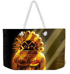 Native American Hawk Spirit Gold Idol Weekender Tote Bag