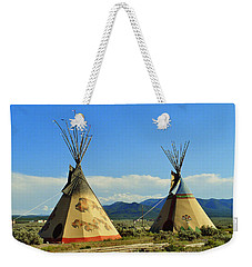 Native American Teepees  Weekender Tote Bag by Dora Sofia Caputo Photographic Art and Design