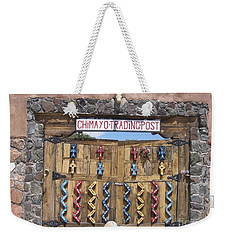Weekender Tote Bag featuring the photograph Native American Trading Post by Dora Sofia Caputo Photographic Art and Design