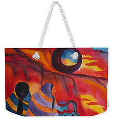 Native Women At Window Rock Square Weekender Tote Bag
