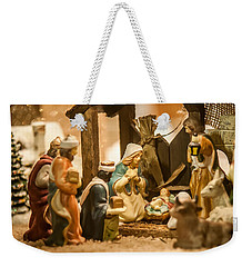 Weekender Tote Bag featuring the photograph Nativity Set by Alex Grichenko