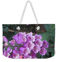 Weekender Tote Bag featuring the photograph Natural Bouquet Bunch Of Spiritul Purple Flowers by Navin Joshi