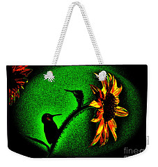 Weekender Tote Bag featuring the photograph Nature Went On Although The Moon Turned Green by Susanne Still