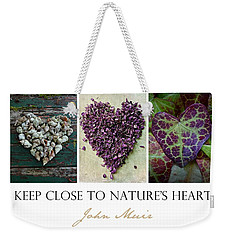 Nature's Heart Weekender Tote Bag by Patricia Strand