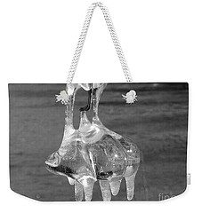 Weekender Tote Bag featuring the photograph Nature's Ornament by Nina Silver