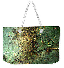 Natures Past Captured In A Web Weekender Tote Bag by Kim Pate