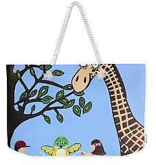 Weekender Tote Bag featuring the painting Nature's Playground by Kathleen Sartoris