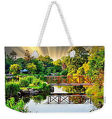 Weekender Tote Bag featuring the photograph Nature's Reflections by Judy Palkimas