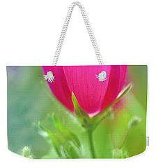 Weekender Tote Bag featuring the photograph Natures Winecup South Texas by Dave Welling