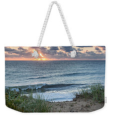 Nauset Light Beach Sunrise Square Weekender Tote Bag
