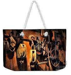 Nautical - Boat - Block And Tackle  Weekender Tote Bag by Paul Ward