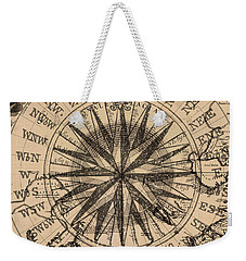 Weekender Tote Bag featuring the painting Nautical II by James Christopher Hill