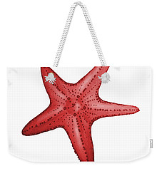 Nautical Red Starfish Weekender Tote Bag