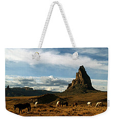 Navajo Horses At El Capitan Weekender Tote Bag