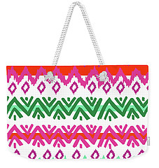 Navajo Mission Round Weekender Tote Bag by Nicholas Biscardi