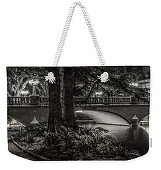 Weekender Tote Bag featuring the photograph Navarro Street Bridge At Night by Steven Sparks