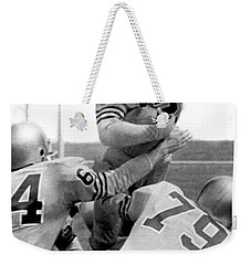 Navy Quarterback Staubach Weekender Tote Bag by Underwood Archives