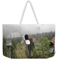 Weekender Tote Bag featuring the photograph Nc Mailboxes by Valerie Reeves
