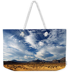 Near The Intersection Of God And The Eastern Sierras Weekender Tote Bag by Joe Schofield