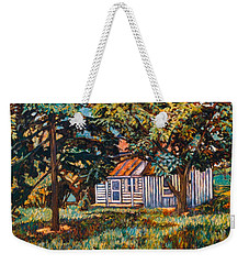 Near The Tech Duck Pond Weekender Tote Bag