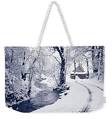 Weekender Tote Bag featuring the photograph Nearly Home by Liz Leyden