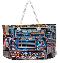 Neat Panamanian Graffiti Bus  Weekender Tote Bag by Eti Reid