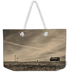 An Abandoned Nebraska Barn Weekender Tote Bag