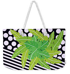 Weekender Tote Bag featuring the painting Negative Green by Thomas Gronowski