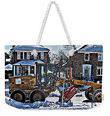 Neighbourhood Snowplough Weekender Tote Bag by Nina Silver
