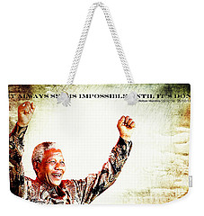 Nelson Mandela Weekender Tote Bag by Spikey Mouse Photography