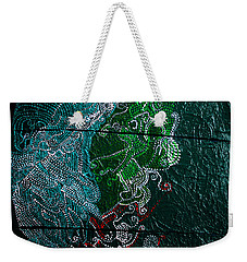Weekender Tote Bag featuring the painting Nemesis by Gloria Ssali