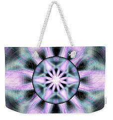 Weekender Tote Bag featuring the drawing Neo Liquid Sky by Derek Gedney