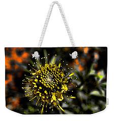 Neon Flower Weekender Tote Bag